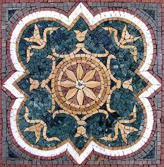 Geometric Mosaic Art Tile - Nalini