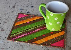 diy mug rug ideas- this is perfect for milk and cookies!