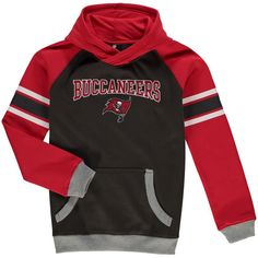 Tampa Bay Buccaneers Youth Fan Gear Robust Pullover Hoodie - Pewter/Red