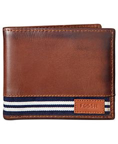Fossil Sheldon Traveler Wallet-just ordered this for my bro for his bday, hope he likes it! Briefcase For Men, Leather Briefcase, Wallet Sewing Pattern, Mens Travel Bag, Travel Bags, Fossil Wallet, Handmade Leather Wallet, Best Wallet, Leather Accessories
