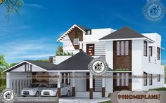 Simple House Floor Plans & Floor Plan For Two Storey House Design Simple House Plans, Simple House Design, House Design Photos, Country House Plans, Modern House Plans, House Floor Plans, 2 Bedroom House Plans, House Plans With Photos, Kerala Houses