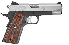 Ruger® SR1911® Centerfire Pistol Model 6711 – with lightweight, anodized aluminum frame & polished titanium feed ramp.