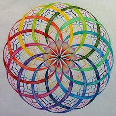 Colourfull flower of life and enough space to create new things