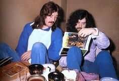 John Bonham and Jimmy Page.