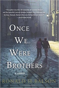 Amazon.com: Once We Were Brothers (9781250046390): Ronald H. Balson: Books