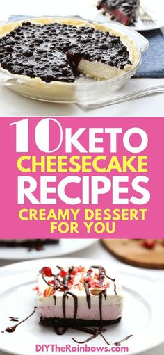 10 Keto Low-Carb Cheesecake Recipes: The Perfect and Creamy Dessert For You! - DIY The Rainbows - Keto Food Low Carb Desserts, Low Carb Recipes, Snack Recipes, Dessert Recipes, Dinner Recipes, Healthy Desserts, Healthy Eats, Happy Healthy, Dip Recipes