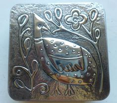 Guinea Fowl TIn made by Caroline @ Pewter Concepts