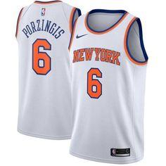 56f86cced Men 6 Kristaps Porzingis Jersey New York Knicks Jersey White Fanatics