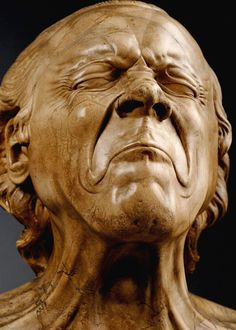"""Franz Xaver Messerschmidt (February 1736 – August was a German-Austrian sculptor most famous for his """"character heads"""".fantastically done and beautifully expressive Franz Xaver Messerschmidt, Art Sculpture, Wooden Art, Oeuvre D'art, Love Art, Statues, Amazing Art, Sculpting, Faces"""