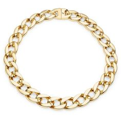 Karen Kane Chain Link Statement Necklace ($98) ❤ liked on Polyvore featuring jewelry, necklaces, gold, karen kane, chain link necklace, gold tone jewelry, chunky chain link necklace and gold jewelry