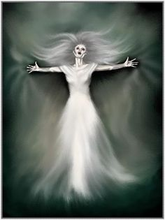 """Banshee (properly spelled """"bean-sidhe""""). She is the Death Fairy, a sort of Celtic Grim Reaper. If you hear her wailing, you are in serious trouble."""