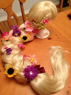 Rapunzel/tangled costume wig Adult  I need one!!!!!!! (Except for the fact that it is $500!!)