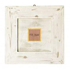 Cornice portafoto in legno bianco shabby