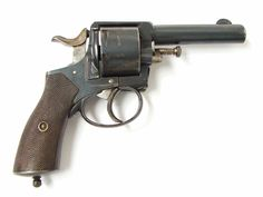 "Belgian Large Bore (approximately .45) caliber revolver. Barrel length 4"" and…"