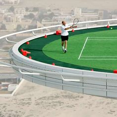 Andre #Agassi and Roger #Federer Play #Tennis on the Burj #Dubai