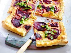 Schnelle vegetarische Gerichte – in 30 Minuten fertig! - rote-bete-pizza  Rezept