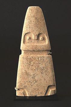 Avian Figure - Valdivia Culture - Ecuador 3500 - 2000 BC Carbonate Mudstone - William Siegal Gallery