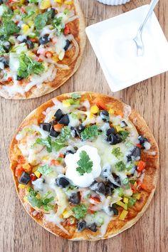 Open-Faced Enchilada Veggie Quesadillas @twopeasandpod