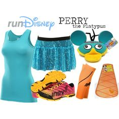 Disney Perry The Platypus Running Costume