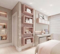 56 bedroom ideas for small rooms page 37 Dream Rooms, Dream Bedroom, Home Bedroom, Bedroom Decor, Bedroom Themes, Bedroom Ideas, Girl Bedroom Designs, Teen Girl Bedrooms, Modern Bedrooms