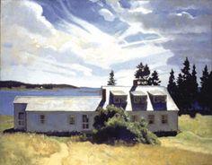 What a serene scene from N.C. Wyeth!