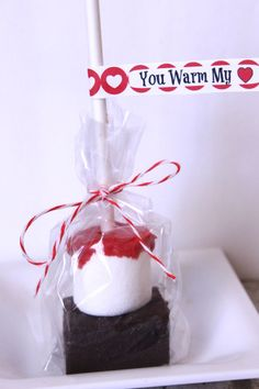 Hot Chocolate on a Stick - Valentines - made with HAPPY