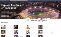 Facebook lanza un portal sobre las Olimpiadas de Londres 2012.