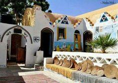 Nuba rest house in Aswan Upper Egypt
