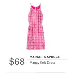 **** STITCH FIX Spring Summer styles!  Just in for your May 2017 fix! Such a cute and easy dress for Summer! Love the cut of this halter and fun pink print! Just click the picture to get started today and custom style your own personal wardrobe with your OWN personal stylist! #StitchFix #sponsored