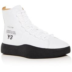 new style 1795b a4941 Adidas Y-3 Mens Bashyo High Top Sneakers (420 CAD) ❤ liked on Polyvore  featuring mens fashion, mens shoes, mens sneakers, mens leather high top  ...
