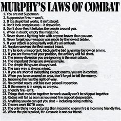 MURPHYS LAWS OF COMBAT