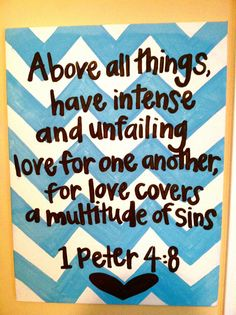1 Peter 48 Quote Canvas by PeaceAndPainting on Etsy, $40.00