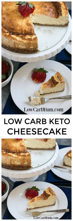 Find out how to make a New York style keto cheesecake using ingredients from @ALDI.USA to save money without sacrificing quality. #AD #ILikeALDI