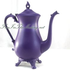 purple teapots   ... to see more of my tea party ideas such as this purple painted tea pot