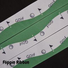 Golf Ribbon - 1 1/2 inch Printed Grosgrain