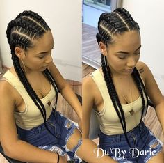 Feed in braids -- goddess braids hairstyles cornrows 15 Most Cute Curly Hairstyles for Women Over 30 Feed In Braids Hairstyles, Cute Curly Hairstyles, Girl Hairstyles, Braided Hairstyles, Hairstyle Ideas, 4 Feed In Braids, 4 Braids Hairstyle, Fake Hair Braids, Hair Ideas