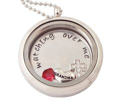 Brooks name stamped. W birthstone, baby feet, grams heart charms. Memory Locket Floating Charm Locket by deepexpressions on Etsy, $41.50