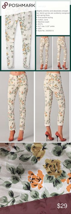 """Anthro """"Citizens Of Humanity Floral Thompson"""" Great condition.  Approx 29"""" inseam. Cotton/Lycra. **  Prices are as listed- Nonnegotiable.  I'm happy to bundle to save shipping costs, but there are no additional discounts.  No trades, paypal or condescending terms of endearment  ** Anthropologie Jeans Skinny"""