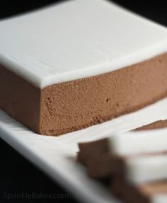 Chocolate Pâté with Crème Chaud-Froid (Recipe) - a chic, simple yet impressive, make ahead desert