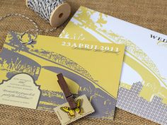 ideas for wedding invites - love the two-tone