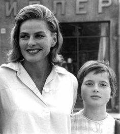 Ingrid Bergman & her daughter Isabella Rossellini