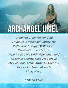 Archangel Prayers, Archangel Uriel, All Archangels, Spiritual Warfare Prayers, Wiccan Spell Book, Novena Prayers, Miracle Prayer, Angel Guidance, Spiritual Meditation