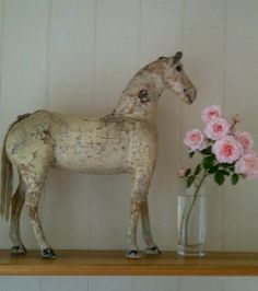 French wooden child's horse