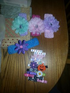 Hair clips and headbands for cousin Ella