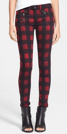 Rag & Bone - Zip Detail Print Denim Leggings http://rstyle.me/n/qcxmznyg6