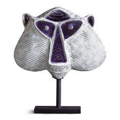 #Modern #Pottery | Decorative Glass Menagerie Monkey on a Post | $298
