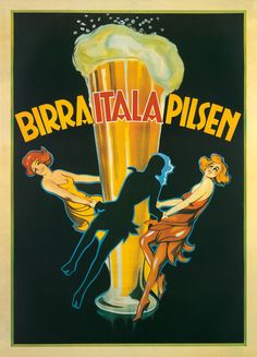 Birra Italia 1920 Pilsen Vintage Poster Retro Art Print Italian Advertisement Free US Post Low European Post by CharmCityPosters on Etsy Vintage Italian Posters, Pub Vintage, Vintage Advertising Posters, Vintage Advertisements, Beer Advertisement, French Posters, Vintage Style, Beer Poster, Poster S
