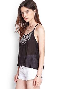 Y-Back Embroidered Cami | FOREVER21 #SummerForever