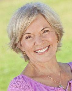 short hairstyles over 50, hairstyles over 60 - short haircut for gray hair