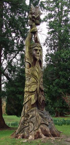 Tree Carvings | Tree Carving in the Botanical Gardens